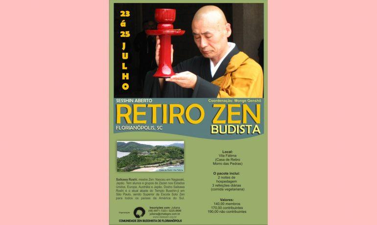 Sesshin com Mestre Zen Saikawa Roshi - 23 a 25 de julho
