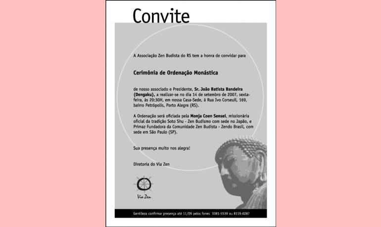 Ordenação monástica em Porto Alegre