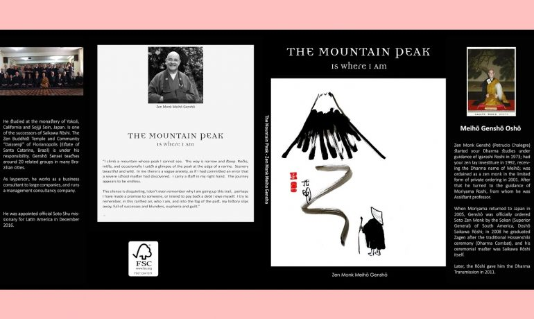"Edição inglesa - ""THE MOUNTAIN PEAK IS WHERE I AM"""