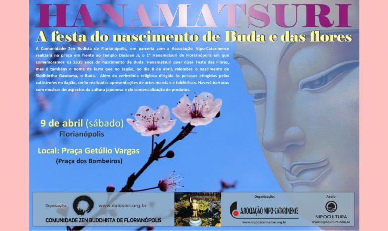 Primeiro Hanamatsuri em Florianópolis
