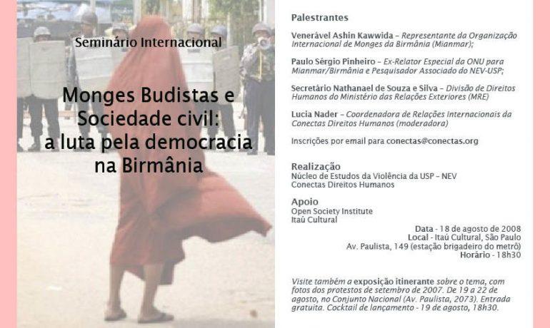 A luta na Birmânia