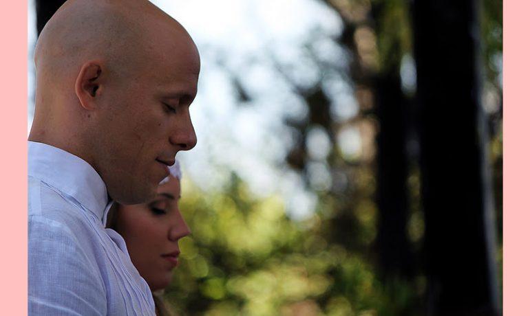 Augusto e Ariane, casamento zen