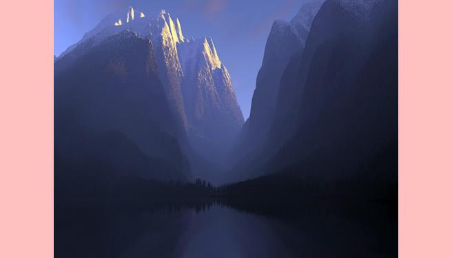 As montanhas e os rios