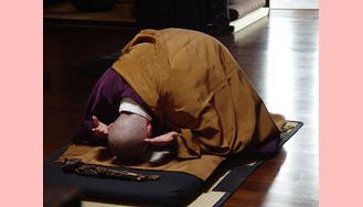 Recebendo os Passos de Buda