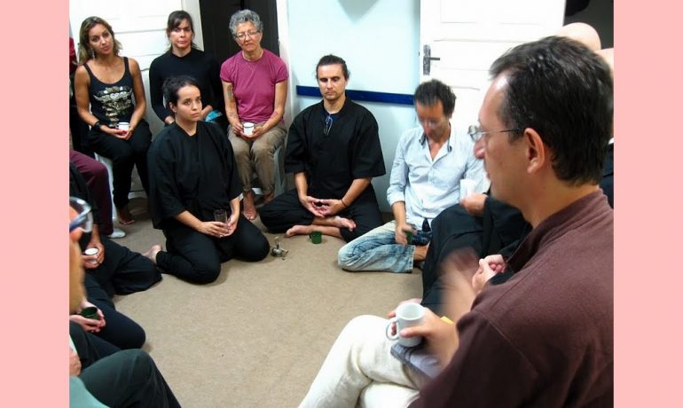 Professor do Dharma Ricardo Sasaki em Florianópolis